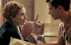Ellen Kincaid (Holland Taylor) with Jack Castello (David Corenswet) in 'Hollywood'.