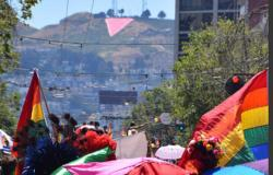 This year's pink triangle display will be lighted, as opposed to previous efforts that included the installation of giant pink tarps that could be seen for miles