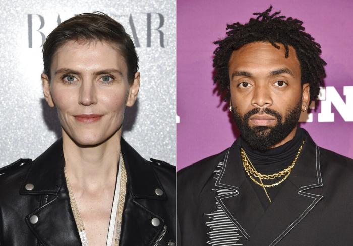 Gabriela Hearst at the Lincoln Center Corporate Fund fashion gala honoring Coach in New York on Nov. 29, 2018, left, and Pyer Moss designer Kerby Jean-Raymond at the 2019 Footwear News Achievement Awards in New York on Dec. 3, 2019.