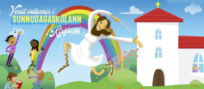 The ad, since deleted, from the Church of Iceland promoting Sunday School attendance