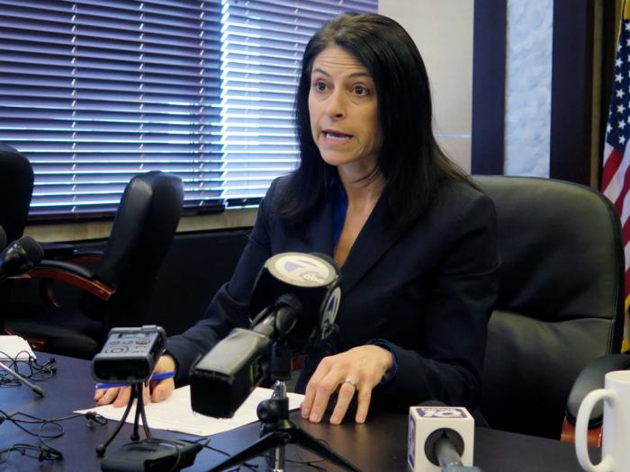 In this March 5, 2020, file photo, Michigan Attorney General Dana Nessel addresses the media during a news conference in Lansing, Mich.