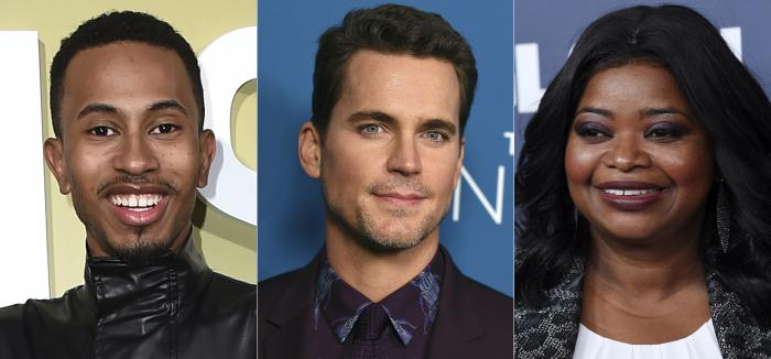 Kalen Allen, left, Matt Bomer, center, and Octavia Spencer, right.