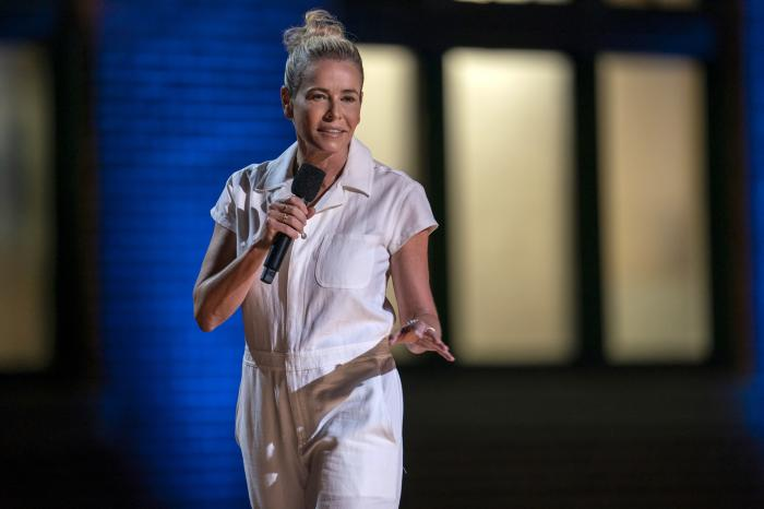 "Chelsea Hander during her comedy special ""Chelsea Handler: Evolution,"