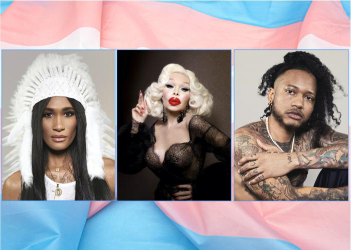 (l to r) D. Smith, Amanda Lepore, Sir Knight