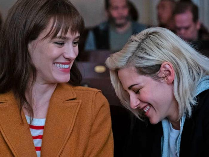 Kristen Stewart and Mackenzie Davis in 'Happiest Season'