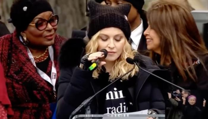 Madonna speaks at the 2017 Women's March in Washington DC