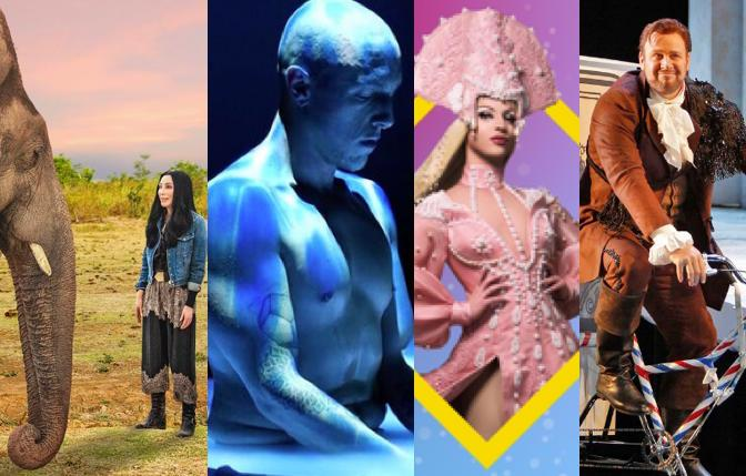 'Cher and the Loneliest Elephant;' 'Combustible Residency,' Miz Cracker with Keshet, SF Opera's 'The Barber of Seville'