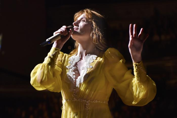 """Florence Welch of Florence + The Machine performs during """"The High As Hope Tour"""" in Chicago."""