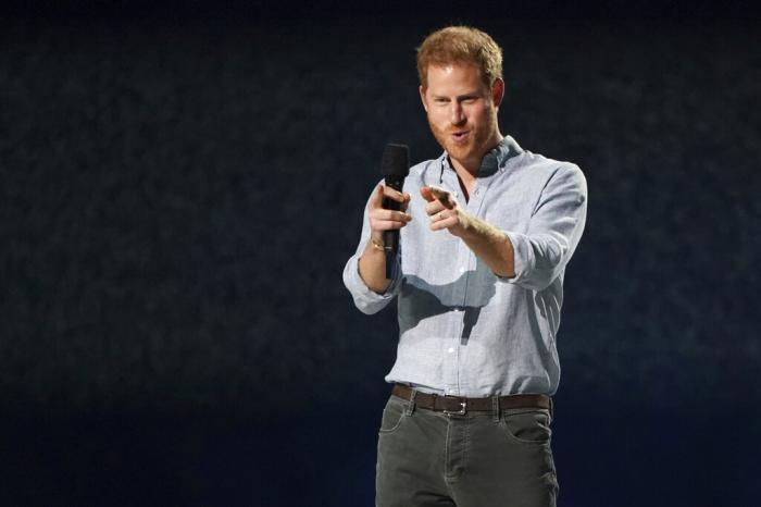 "Prince Harry, Duke of Sussex, speaks at ""Vax Live: The Concert to Reunite the World"""